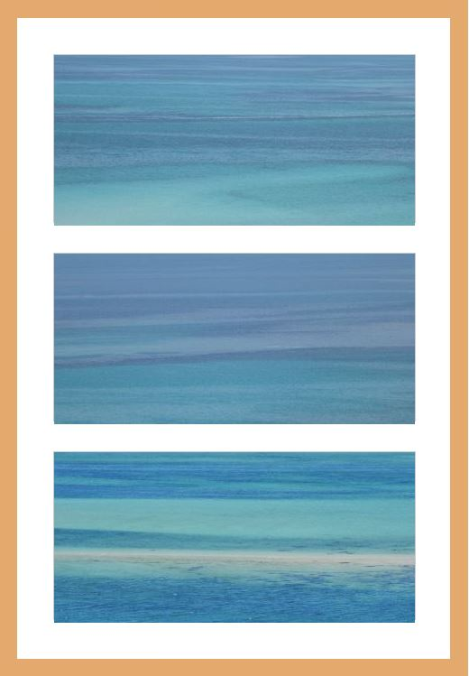 Indigo to turquoise in the sea, Isles of Scilly